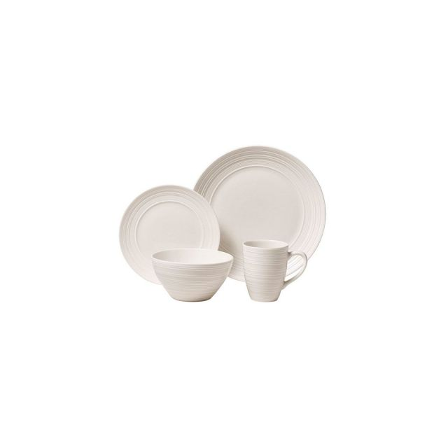 SET 16PZAS STONEWARE D27-20-15 369ML RIPPLE